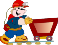 mascot,minery,miner,digger,animal,gopher,mole,cartoon,media,clip art,public domain,image,png,svg