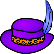 media,clip art,public domain,image,png,svg,clothing,hat,violet,purple,pimp,outline