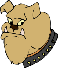 animal,pet,dog,head,bulldog,color,cartoon,media,clip art,public domain,image,png,svg