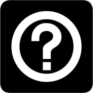aiga bg,sign,symbol,map symbol,silhouette,black and white,help,information,question mark,icon