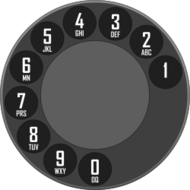 rotary dialer,rotary dial,rotary unit,phone disc,dialer,media,clip art,public domain,image,png,svg