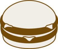 media,clip art,public domain,image,svg,hamburger,burger,fast food,monochrome,food,meat,bun,cheese