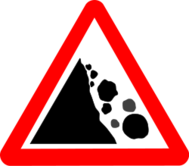 sign,roadsign,falling,stone,rock,danger,media,clip art,public domain,image,svg