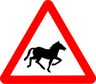 sign,roadsign,attention,animal,horse,running,silhouette,media,clip art,public domain,image,svg