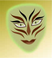 cleanup,face,person,green,paint,mask,man,media,clip art,public domain,image,png,svg