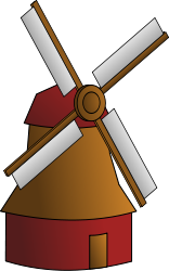 windmill,cartoon,colour,building,holand,mill,media,clip art,public domain,image,svg