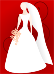 editorial pick,stylised,line art,bride,wedding,marriage,woman,dress,media,clip art,public domain,image,png,svg