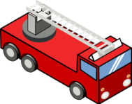remix,isometric,pixelart,fire engine,fire truck,fire,engine,truck,vehicle,clip art,media,public domain,image,svg