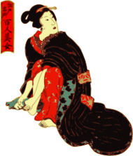 colour,cartoon,woman,kimono,japan,feet