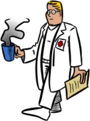 doctor,medic,person,people,health,coffee,cartoon,media,clip art,public domain,image,png,svg