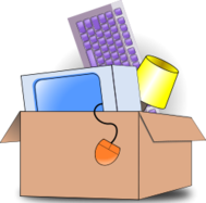 media,clip art,public domain,image,png,svg,packing,moving,keyboard,mouse,screen,lamp