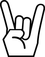 rock on,rock and roll,rock,metal,rock hand,wicked sweet,media,clip art,public domain,image,svg