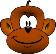monkey,head,animal,cartoon,mammal,media,clip art,public domain,image,svg