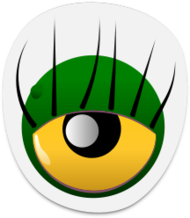 media,clip art,public domain,image,svg,monster,eye,sticker,green,colour,cartoon