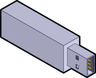 unchecked,usb,usb stick,isometric,computer,hardware,memory,media,clip art,public domain,image,png,svg