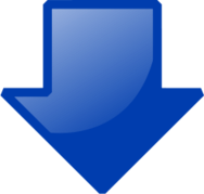 colour,outline,sign,icon,logo,download,computer,blue,arrow,down