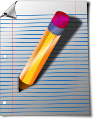 unchecked,notepad,paper,pencil,note,office,memo,media,clip art,public domain,image,png,svg