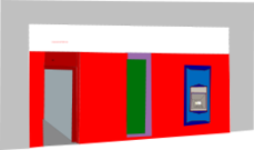 unchecked,bank,building,storefront,atm,atm machine,colour,cartoon,media,clip art,public domain,image,png,svg