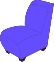 unchecked,chair,soft,blue,colour,cartoon,furniture
