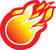 fire,ball,flame,circle,yellow,orange,red,white,gradient,icon