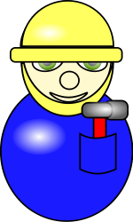 construction worker,village people,cartoon,icon
