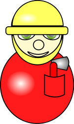 fireman,village people,cartoon icon