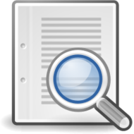 externalsource,tango,icon,find,magnifying glass,document,paper