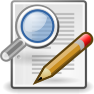 externalsource,tango,icon,find,replace,magnifying glass,paper,document,pencil