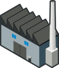 isometric,factory,building