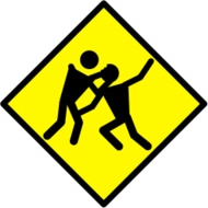 zombie,warning,road,sign