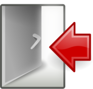 tango,icon,open,door,arrow,red,quit,exit,logout,externalsource