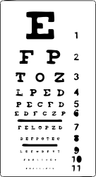 medicine,ophthalmology,letter,table,eye,test