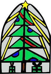 christmas,tree,christmas tree,stained glass