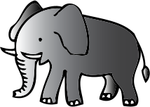 microsoft clip art elephant - photo #44