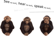 no evil,see no evil,hear no evil,speak no evil,animal,chimpanzee,monkey,color,article,mh,svg,image