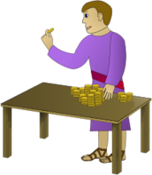 historic,man,person,counting,money,table,rich,young