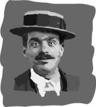 man,face,hat,boater,moustache,monochrome