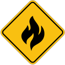 fire,sign,warning,alert