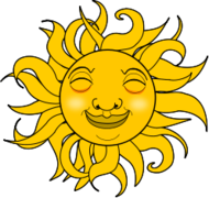 sun,cartoon,smile