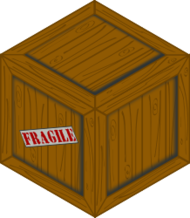 isometric,wooden,crate,box