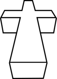 cross,religion,3d,black and white,line art