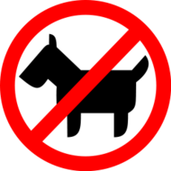no animal,no dog,restricted sign
