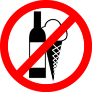 no drink,no ice cream,restricted sign,no drinks,no ice cream