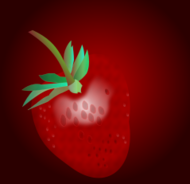 strawberry,leaf,stem,web optimezd,filter,radialgradients,leaf,radialgradients