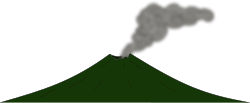 volcano,mountain,smoke,nature,disaster