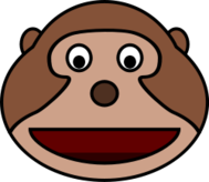 cartoon,monkey,head,animal