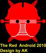 android,red android,robot bujung