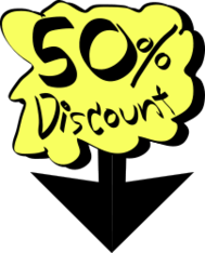 50%discount,discount,label,cartoon,down,on sale