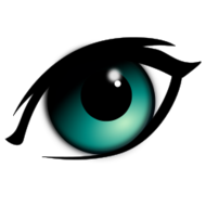 eye,looking,cartoon,strong,black,outline,green,auge