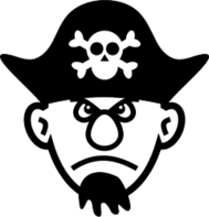 pirate,hat,skull,goatee,black,black and white
